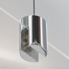 Polished Chrome Ceiling Mount Suspended Sign  Clamp