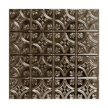 2' Square Copper Lay In Premium Decorative Stamped Steel Ceiling Panel