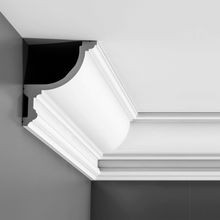 Orac Decor | High Density Polyurethane Crown Moulding for Indirect Lighting | Primed White  | 5-7/8in H x 4-7/8in Proj x 7-1/2in Face