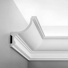 Orac Decor Polyurethane Crown Moulding For Indirect Lighting, Primed White. Face: 7-1/2