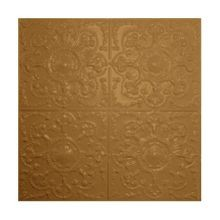 2' Square Champagne Nail Up Premium Decorative Stamped Steel Ceiling Panel