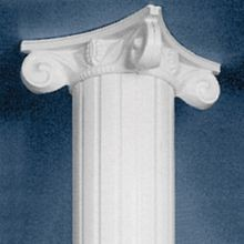 Primed Decorative Scamozzi Capital for 8