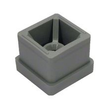 Perpendicular Joiner/Splicer for Signage and Partition Systems | Fits 1in AT Tubing | Grey Dupont Super Toughened Nylon
