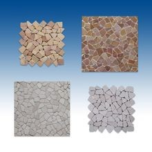 "4-Sided 12""x12"" Interlocking Tiles Flat Laying Stone"