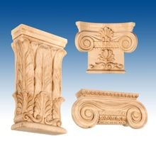 Pilaster Wood Capitals