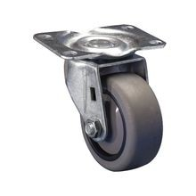 4in Dia | Gray Swivel 400 Series Industrial Caster | Top Plate