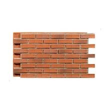 2' High x 4' Wide Burnt Orange Contemporary Brick Polyurethane Interlocking Faux Stone Panel