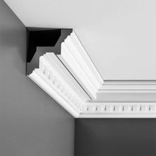 Orac Decor | High Density Polyurethane Crown Moulding | Primed White | 4-3/8in H x 4-5/8in Proj x 6-1/4in Face