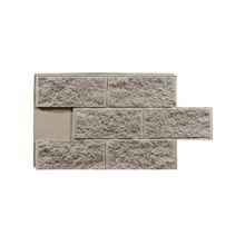 4' High x 2' Wide High Density Polyurethane Split Face Block Interlocking Faux Stone Panel