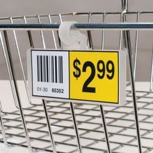Wire Shelf Label Holders