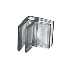 2-Way Clipmaster Panel Connector for 3/16in Panels | Clear Lexan | 1in x 1-1/4in