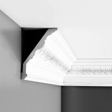 Orac Decor | High Density Polyurethane Crown Moulding | Primed White | 6-7/8in H x 5-1/8in Proj x 8-5/8in Face