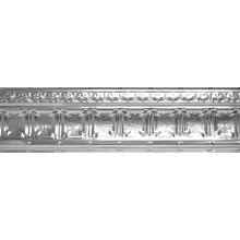 Tin Plated Stamped Steel Cornice | 9in H x 9in Proj | 4ft Long