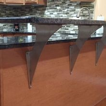Elevated Steel Countertop Support Brackets