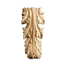 6in H x 3-3/4in W x 6-1/8in Deep | Hand Carved Unfinished Solid White Hardwood | Applique