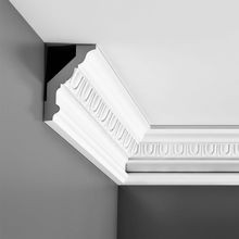 Orac Decor | High Density Polyurethane Crown Moulding | Primed White | 5in H x 3-3/8in Proj x 5-7/8in Face