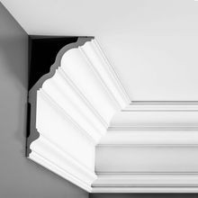 Orac Decor | High Density Polyurethane Crown Moulding | Primed White | 10-1/8in H x 5-3/8in Proj x 11-1/4in Face