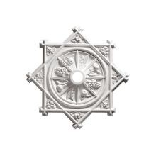 Focal Point | 38-1/8in H x 38-1/8in W | Primed White Polyurethane | Decorative Ceiling Medallion