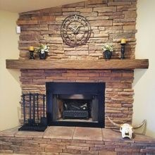Faux Wood Floating Mantels