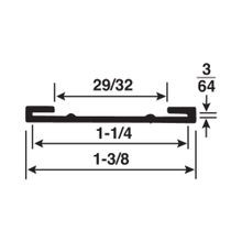 1-1/4in | Black Styrene | Ticket Moulding | 12ft Long