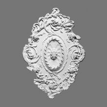 Orac Decor | High Density Polyurethane Ceiling Medallion | Primed White | 31-5/16in x 20-5/8in