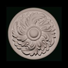 Unfinished Polymer Resin Artisan Collection Rosette Applique