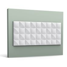 Orac Decor | High Density Polyurethane | 3D Decorative Covering | Cobble Wall Element | Primed White | 9-7/8in H