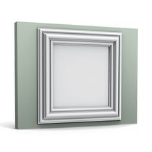 Orac Decor | High Density Polyurethane | 3D Wall Covering | Autoire Wall Panel | Primed White | 19-5/8in H x 19-5/8in W