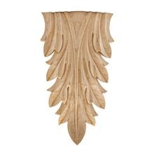 Hand Carved Unfinished | Solid North American Hardwood | Deco Applique | RWC007 Series