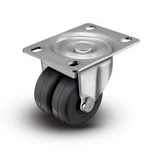 2in Dia x 2-9/16in x 3-5/8in | Swivel Plate Rubberex | Piano Dual Wheel Caster