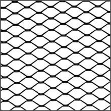3ft x 4ft Black Aluminum | Expanded Metal Grille