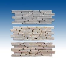 "2-Sided 4""x12"" Interlocking Tiles Flat Stacked Stone"