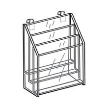 Gridwall Brochure Holder 3 Tier For 4