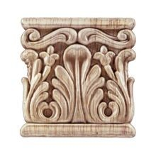 3-3/4in W x 4in H | Unfinished Maple Embossed Wood Veneer | Small Applique