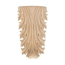 Hand Carved Unfinished | Solid North American Hardwood Deco Applique | RWC101 Series