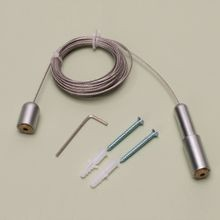 Satin Aluminum Finish Economy Floor To Ceiling Cable Kit
