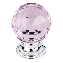 Pink Crystal Knob Polished Chrome Base