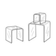 Clear Acrylic Riser Set Of 3 2