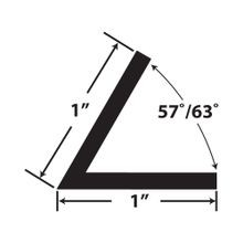 1in x 1in x 7/64in (.100in) Thick | Styrene Even Leg | Angle Moulding | 12ft Length