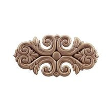 5-3/4in W x 3in H | Unfinished Maple Embossed Wood Veneer | Small Applique
