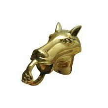 2in Dia | Polished Brass Finish | Horse Figurine