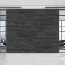 5-1/8in W x 3/16in Thick x 46-1/2in Long | Ebony Finish Pine Planks | Wood Wallscapes Wallcovering