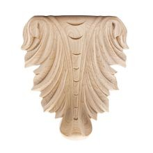 Hand Carved Unfinished | Solid North American Hardwood | Deco Applique | RWC006 Series
