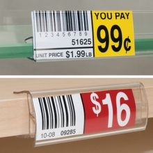 Glass Shelf Label Holders and Wood Shelf Label Holders