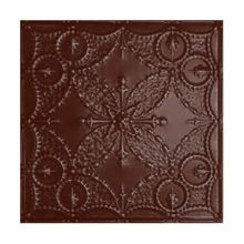 2' Square Classic Burgundy Nail Up Premium Decorative Stamped Steel Ceiling Panel