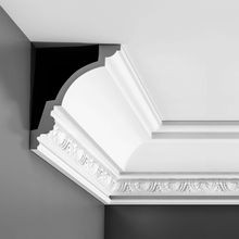 Orac Decor | High Density Polyurethane Crown Moulding | Primed White | 6-3/4in H x 5-5/8in Proj x 8-5/8in Face