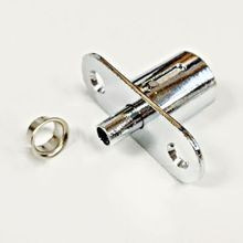 Economy Push Lock for Sliding Cabinet Door Polished Chrome Finish