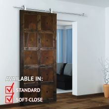 Sliding Barn Door Hardware Kits for Single Wood Doors Stainless Steel Finish