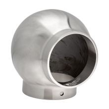 2in Dia x 3-3/8in H | Satin Stainless Steel Finish | 90 Degree | Ball Fitting