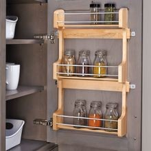 Wood Door Mount Spice Rack